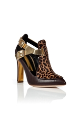 Rupert Sanderson Haircalf Leather Cutout Ankle Boots