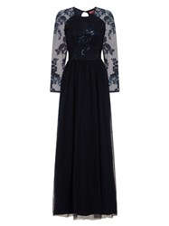 Chi Chi London Sequinned Maxi Dress Navy