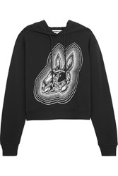 Mcq By Alexander Mcqueen Printed Cotton Jersey Hooded Sweatshirt Black