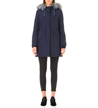 Claudie Pierlot Granite Shell Parka Coat Marine
