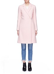 Mo And Co. Edition 10 Double Breasted Wool Blend Melton Coat Pink