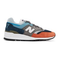 New Balance Blue And Grey Made In The Usa 997 Sneakers