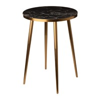 Pols Potten Marble Look Side Table Black
