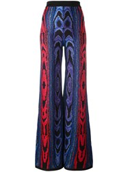 Balmain Inca Patterned Trousers Blue