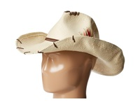 San Diego Hat Company Pbc1014 Suede Trim Feather Cowboy Natural Traditional Hats Beige