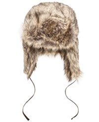 Woolrich Faux Fur Trooper Hat Brown