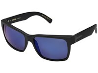 Von Zipper Elmore Polar Black Satin Wild Blue Flash Polar Plus Fashion Sunglasses