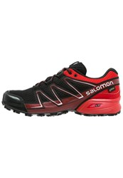 Salomon Speedcross Vario Gtx Trail Running Shoes Black Radiant Red Briquex