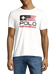 Polo Ralph Lauren Solid Printed Tee White