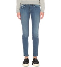 Calvin Klein Washed Skinny Mid Rise Jeans Mid Eighties Blue