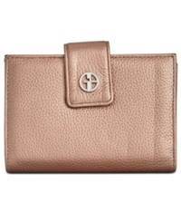 Giani Bernini Softy Leather Wallet Created For Macy's Dark Bronze