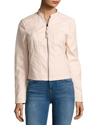 Vero Moda Faux Leather Bomber Jacket Peach Whip