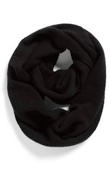 Women's Halogen Pointelle Knit Wool And Cashmere Infinity Scarf Black