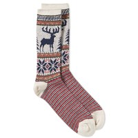 Anonymous Ism Deer Snow Socks White