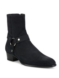 Saint Laurent Wyatt Harness Calfskin Leather Boots Black