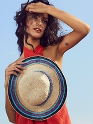 Free People Salt Water Stripe Straw Hat By