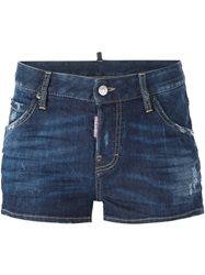 Dsquared2 Denim Mini Shorts Blue