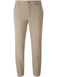 Closed Cropped Chino Pants Nude And Neutrals
