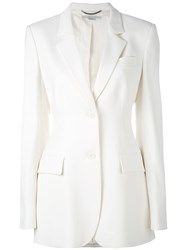 Stella Mccartney Tailored Blazer Women Cotton Spandex Elastane Viscose Wool 42 White