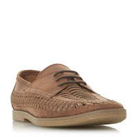 Howick Brazen Woven Lace Up Gibson Shoes Tan