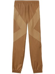 Burberry Two Tone Nylon Trackpants Brown