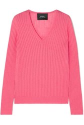 Marc Jacobs Ribbed Wool Blend Sweater Pink