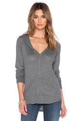 Feel The Piece Everett V Neck Hoodie Gray