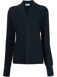 Christophe Lemaire Lemaire Ribbed Cardigan Blue