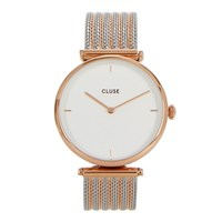 Cluse Triomphe Silver And Rose Gold Tone Watch