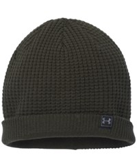 Under Armour Men's Waffle Beanie True Gray Heather Black