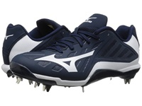 Mizuno Heist Iq Low Navy White Men's Cleated Shoes Blue