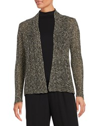 Eileen Fisher Open Front Knit Cardigan Ash