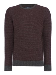 Criminal Men's Brett Textured Crew Jumper Charcoal