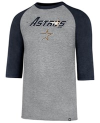 47 Brand '47 Men's Houston Astros Pregame Raglan T Shirt Navy Gray