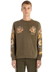 Mhi Dragon Embroidered Jersey Sweatshirt