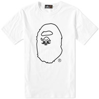 Mr. Bathing Ape Moustache Tee White
