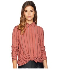 Roxy Concrete Streets Stripe Woven Traditional Top Whitered Rose Poetic Stripe Vertical Clothing Pink