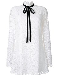 Macgraw Ribbon Dress White