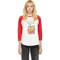 Marc Jacobs Off White And Red New York Magazine Edition The Baseball T Shirt Long Sleeve T Shirt