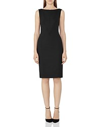 Reiss Dartmouth Sheath Dress Black