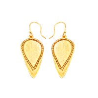 Alexander Betty Matte Tip Spear Head Earrings 18K Gold Plated Brass