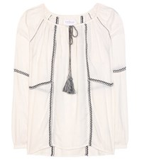 Velvet Shavanni Cotton Blend Tunic Topic White