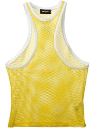 Dsquared2 Racerback Style Front Vest Yellow And Orange