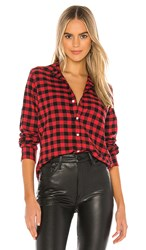 Frank And Eileen Barry Button Down In Red. Large Red And Black Check