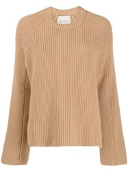 Laneus Oversized Knitted Sweater Brown