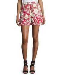 Double J Lilim Cotton Shorts Red Pattern