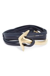 Men's Miansai Anchor Leather Wrap Bracelet