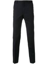 A Kind Of Guise Slim Fit Tailored Trousers Cotton Viscose Virgin Wool Blue