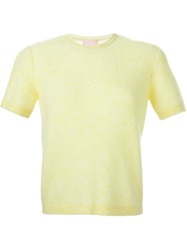 Giamba Shortsleeved Sweater Yellow And Orange