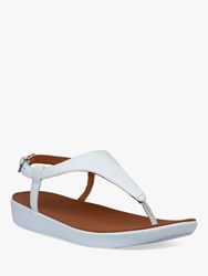 Fitflop Lainey Leather Ankle Strap Sandals White
